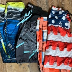 Other - Set of 4 Swim/board Trunks Size 32